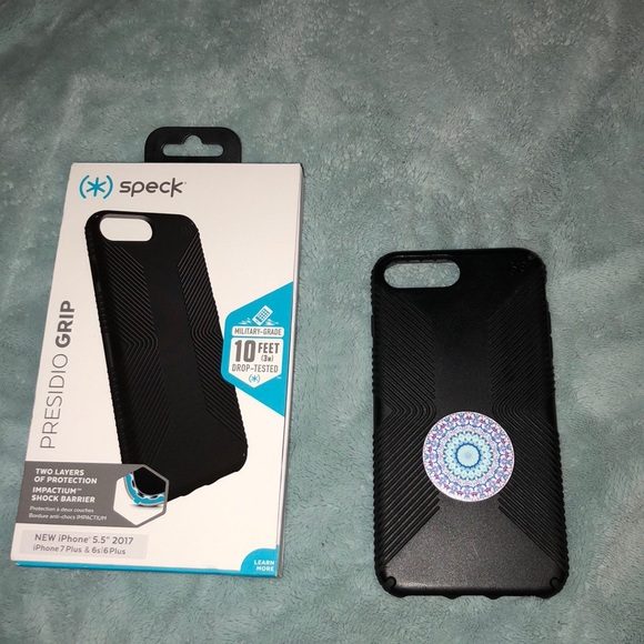 huge selection of 7792d 868ed Speck case with box & popsocket